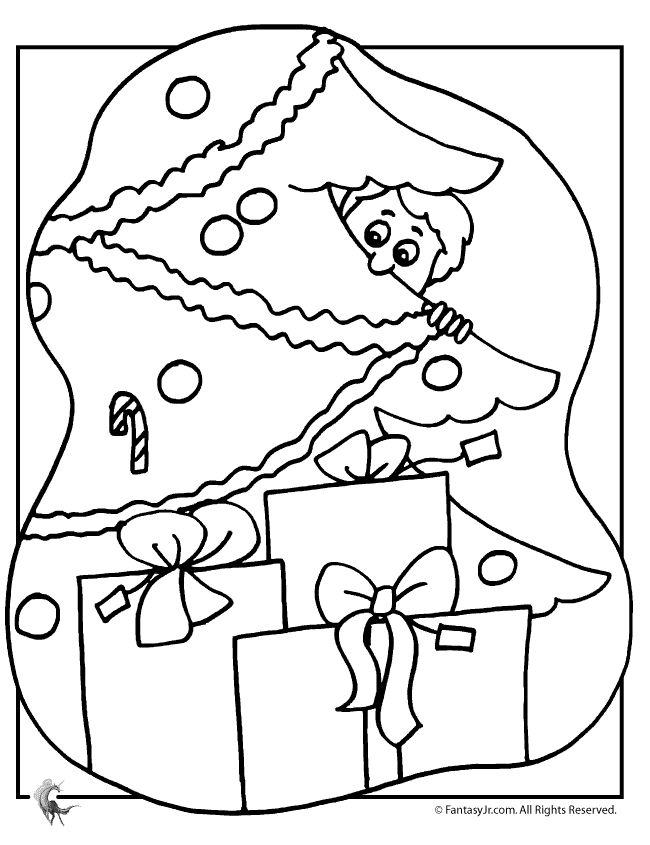 Free Christmas Tree Coloring Pages For The Kids