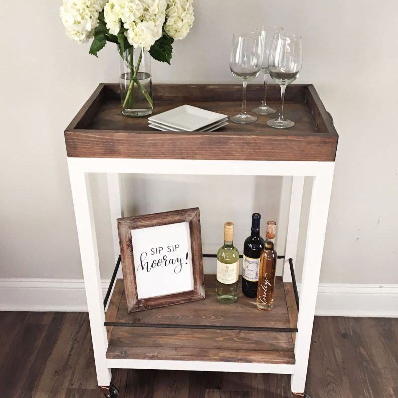 14 Diy Ideas For Stylish And Practical Bar Carts