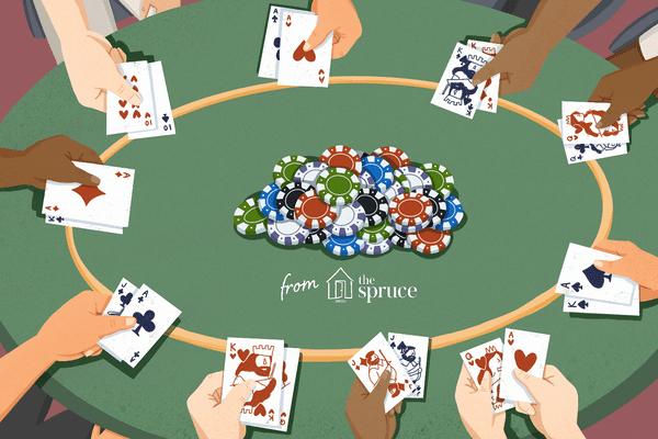 Illustration of sets of hands holding cards