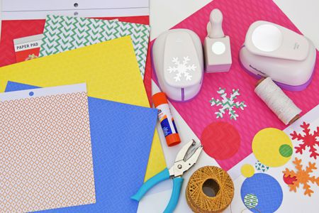 paper supplies for xmas decorations - Office Supply Christmas Decorations
