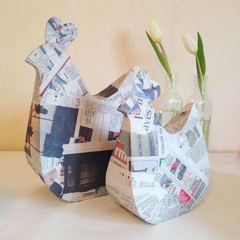 Make Papier Mache Hens