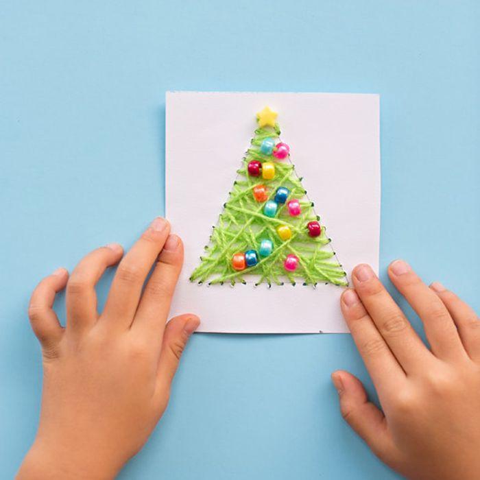 string art Christmas card