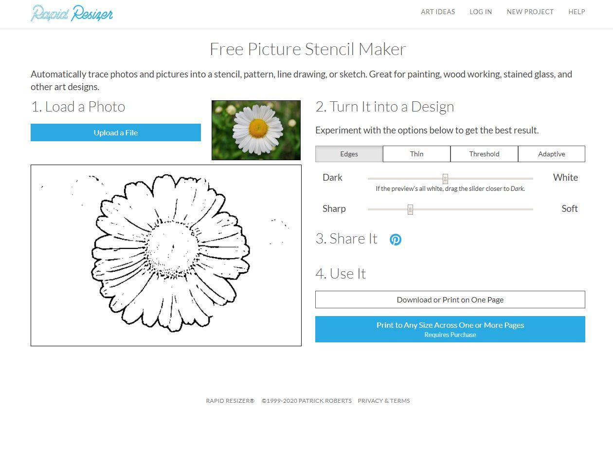 A create your own stencil tool