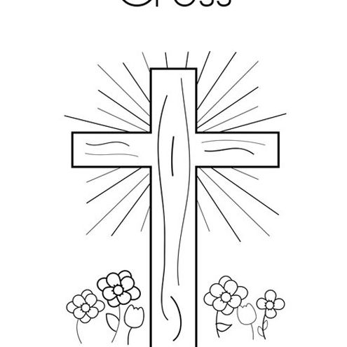 Free Easter Cross Coloring Page, Download Free Clip Art, Free Clip ... | 495x495