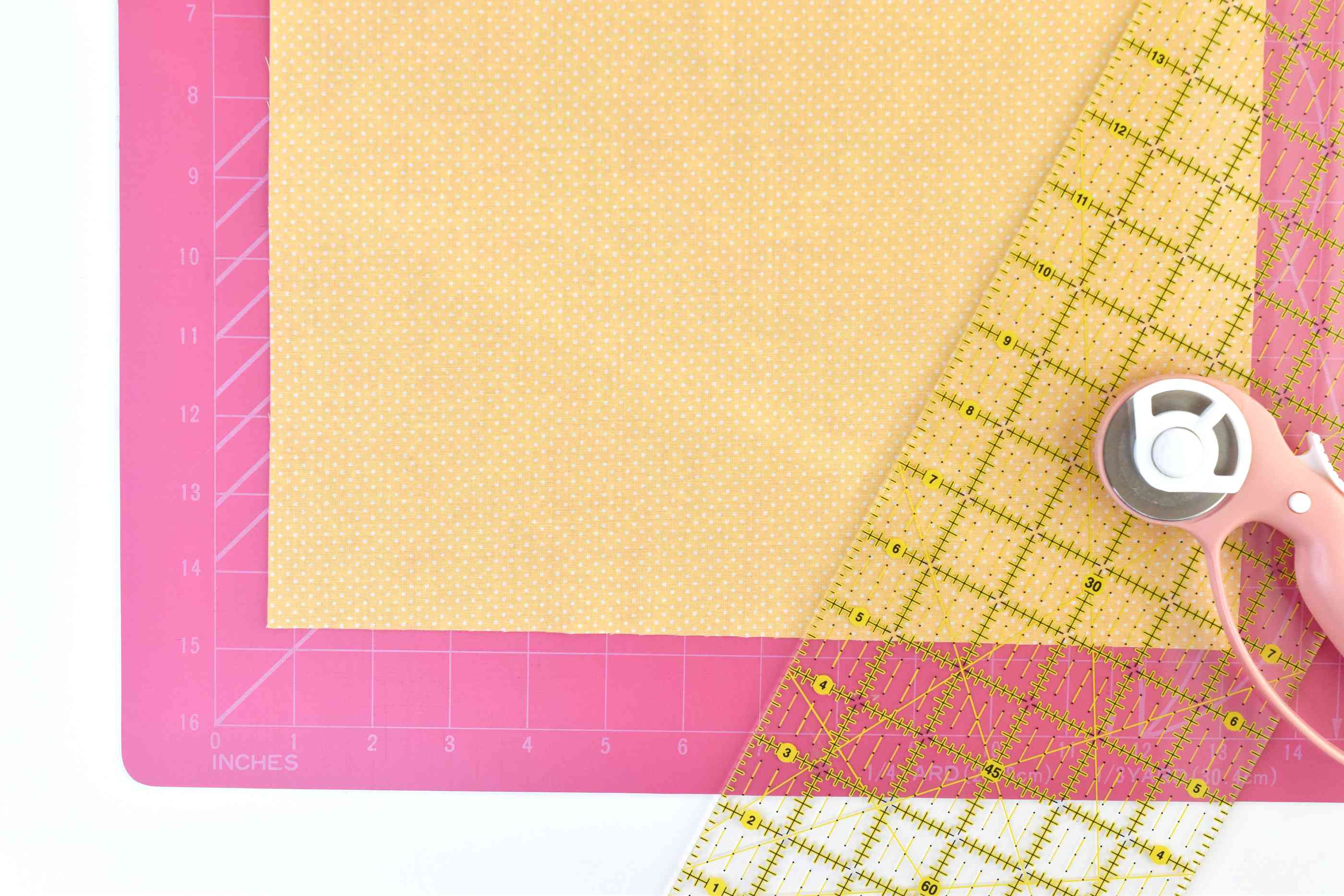 Cut Squares of Fabric 1-1/2 Larger Than the Desired Napkin Size