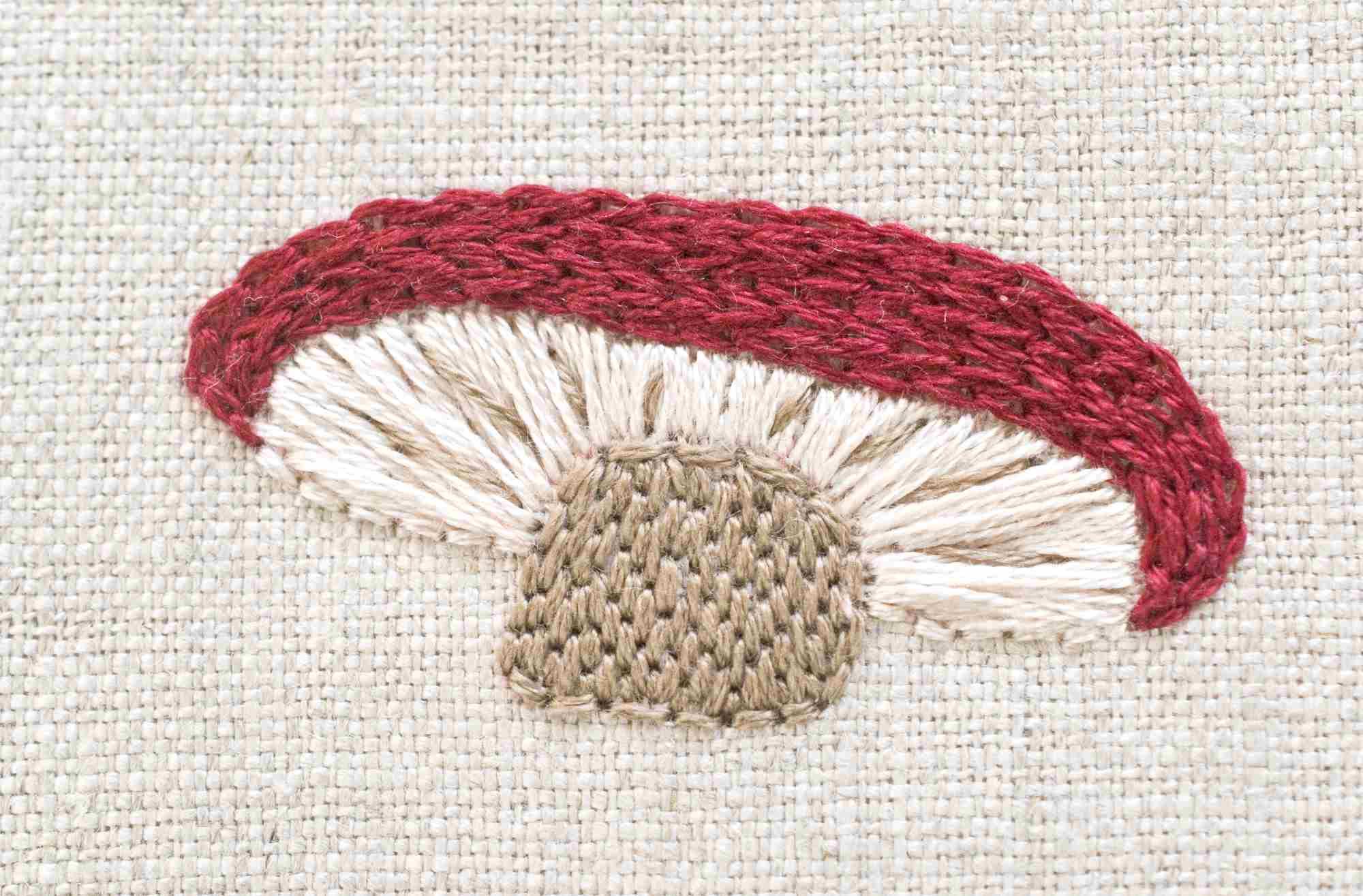 Mushroom Mosaic Free Embroidery Pattern
