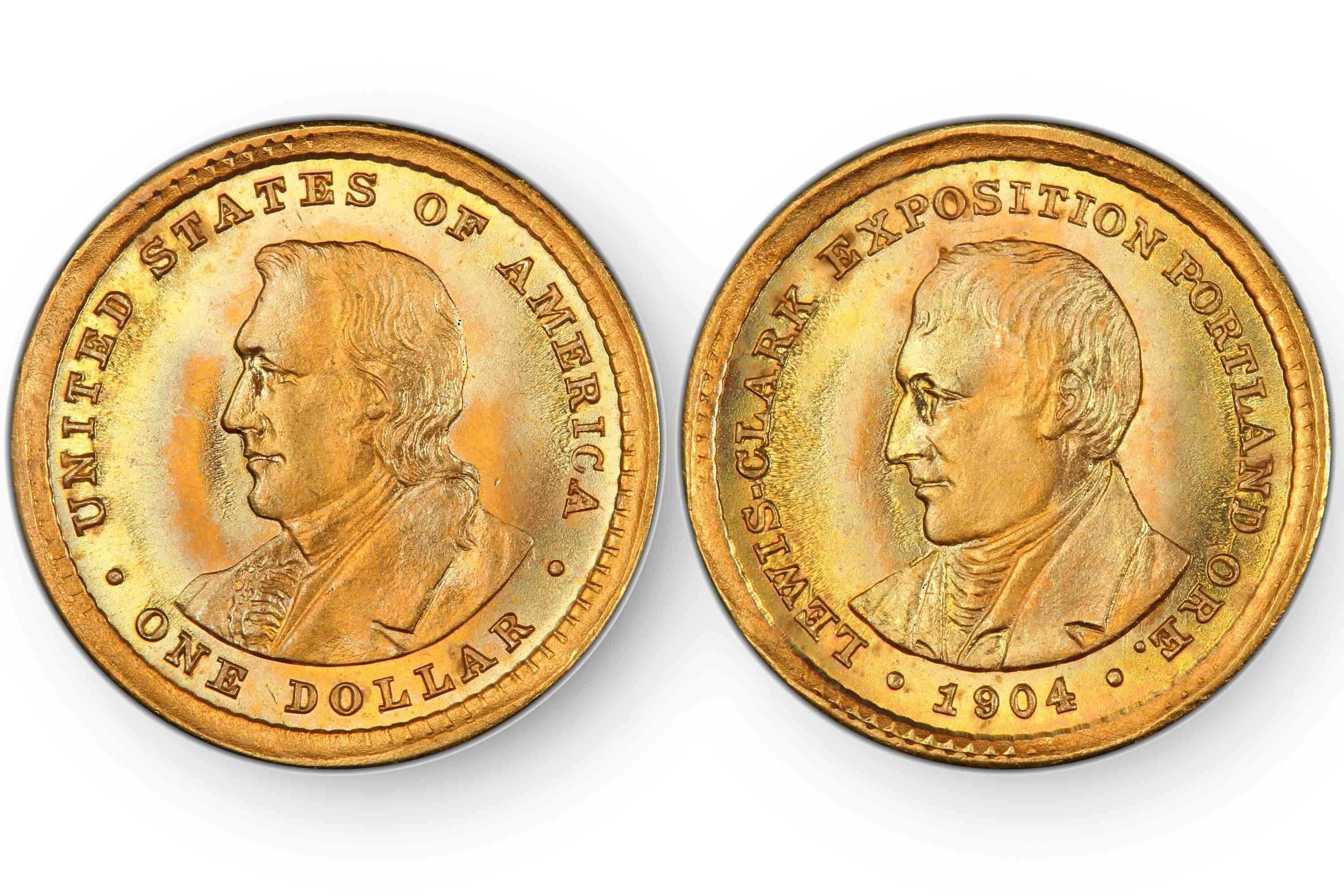 1904 Lewis And Clark Exposition Commemorative One Dollar Gold Coin.