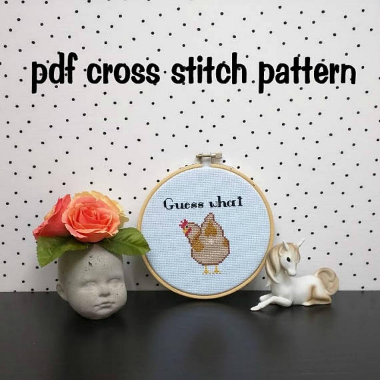 Guess what cross stitch pattern