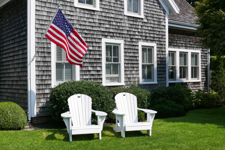 Adirondack Chairs and American Flag