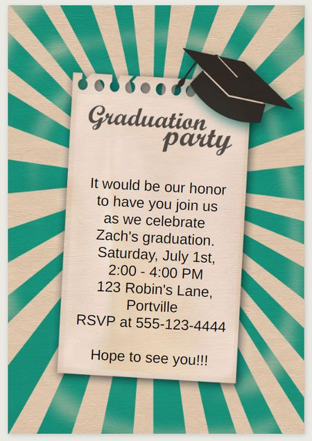 19 free printable graduation invitations templates a green graduation party invite filmwisefo