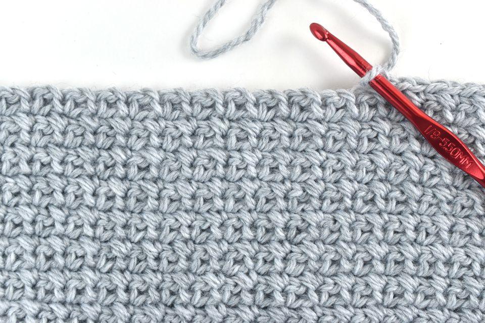 Single Crochet Moss Stitch