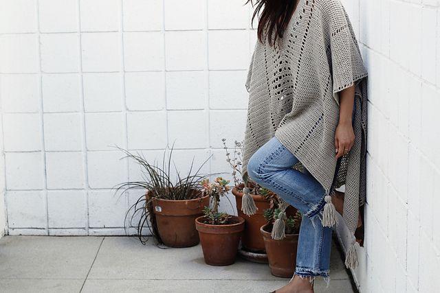 Filet Crochet Poncho Free Pattern