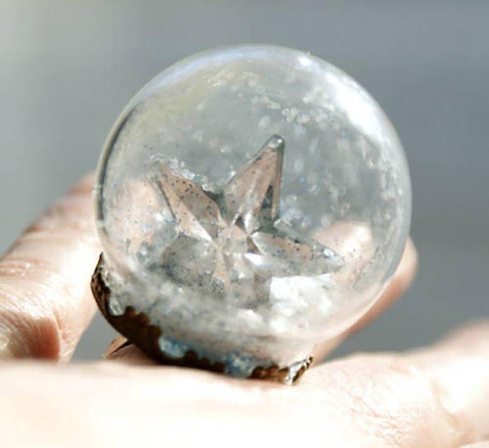 diy snow globe ring