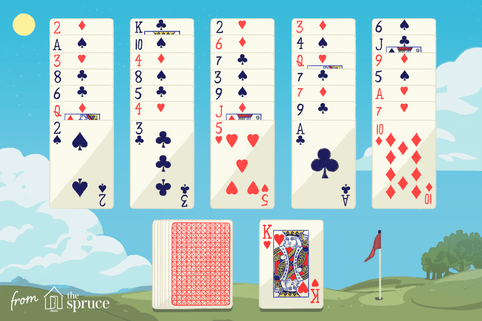 Illustration of golf solitaire