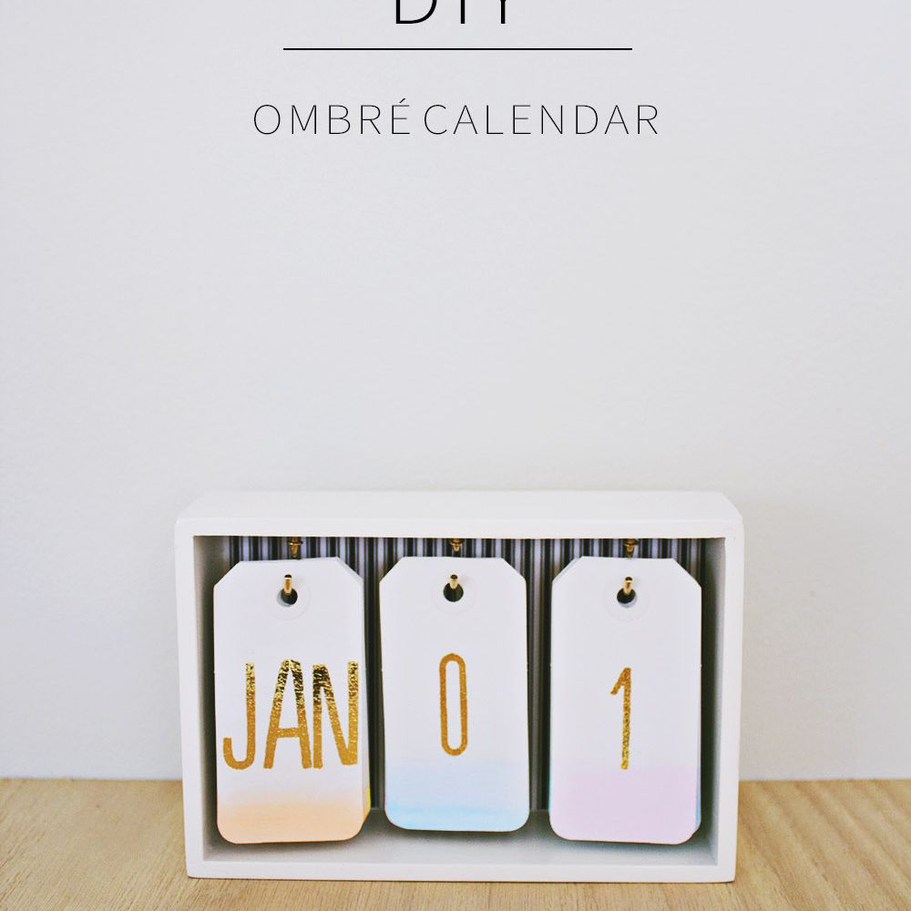 Ombre Desk Calendar
