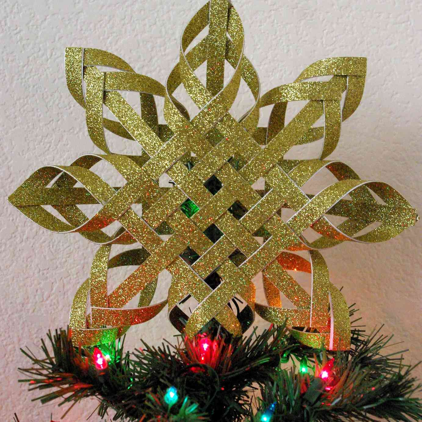 Woven Paper Tree Topper