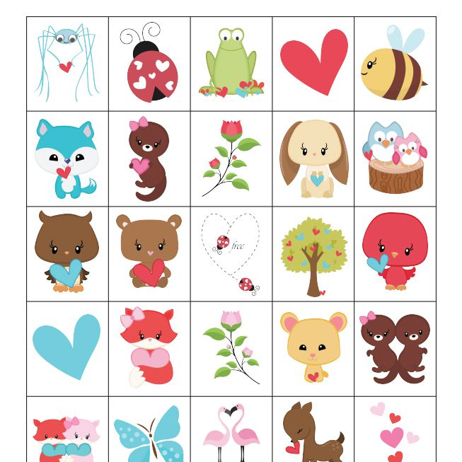 12 Sets Of Free Printable Valentine Bingo Cards