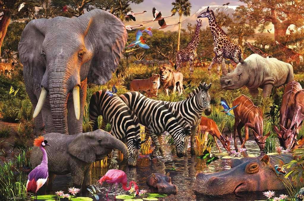 african-animals-puzzle