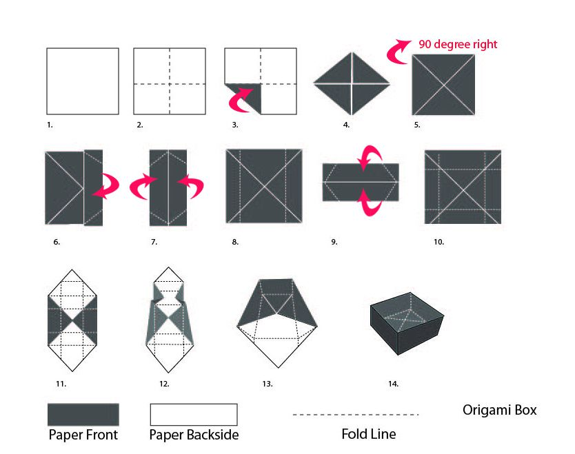 How To Make a Paper Box - Without Glue or Tape | Origami easy ... | 659x834