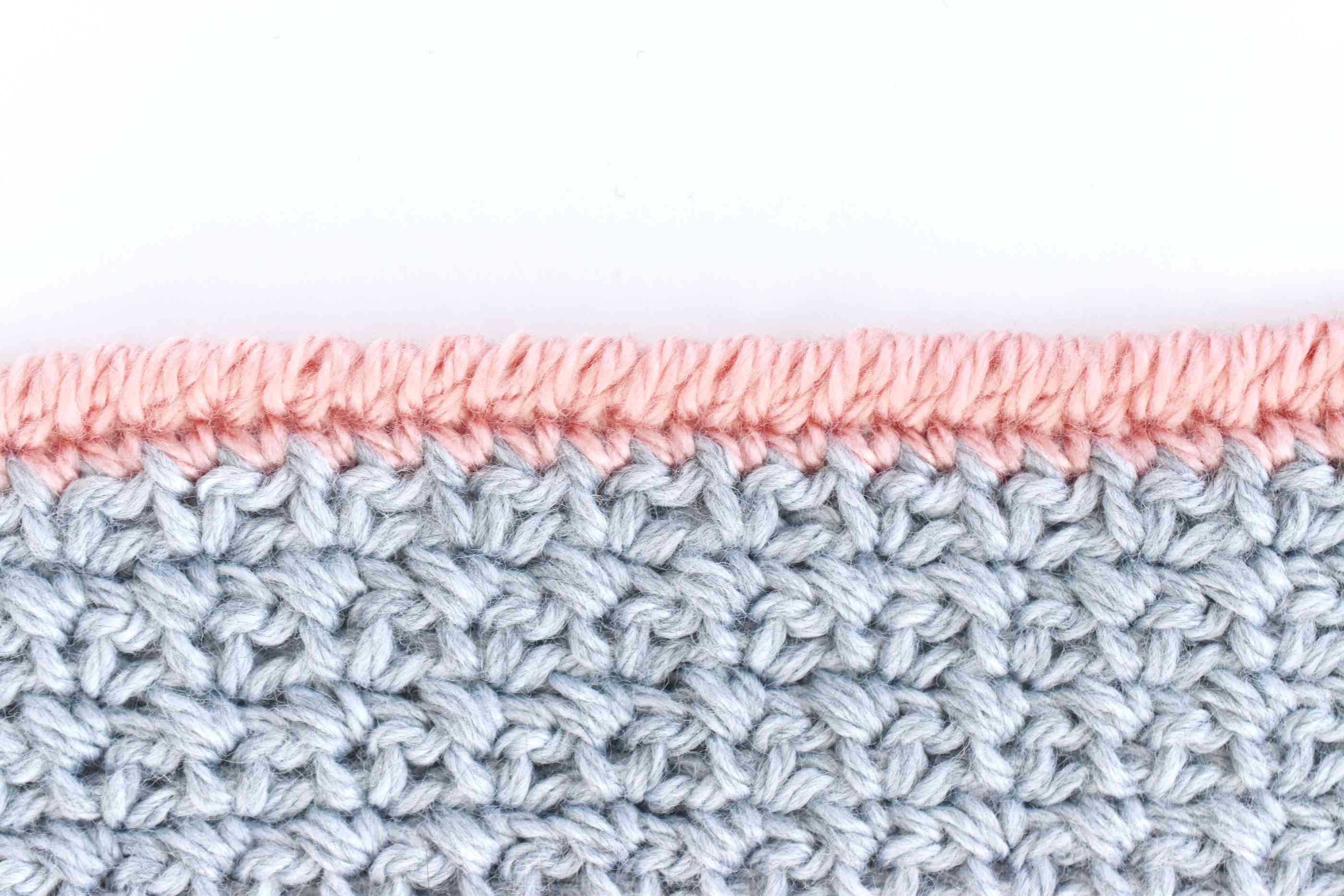 Crochet Crab Stitch Edging