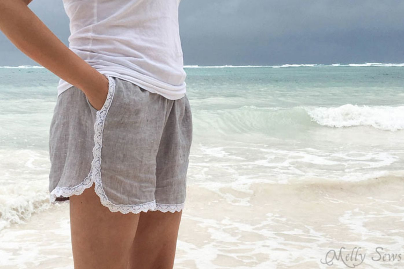 Lace-Trimmed Shorts Pattern