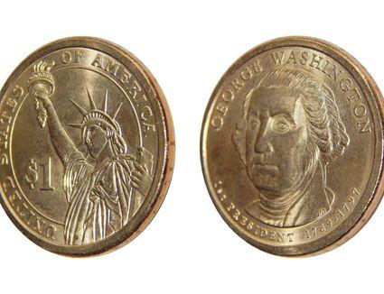 Coin one US dollar (George Washington)