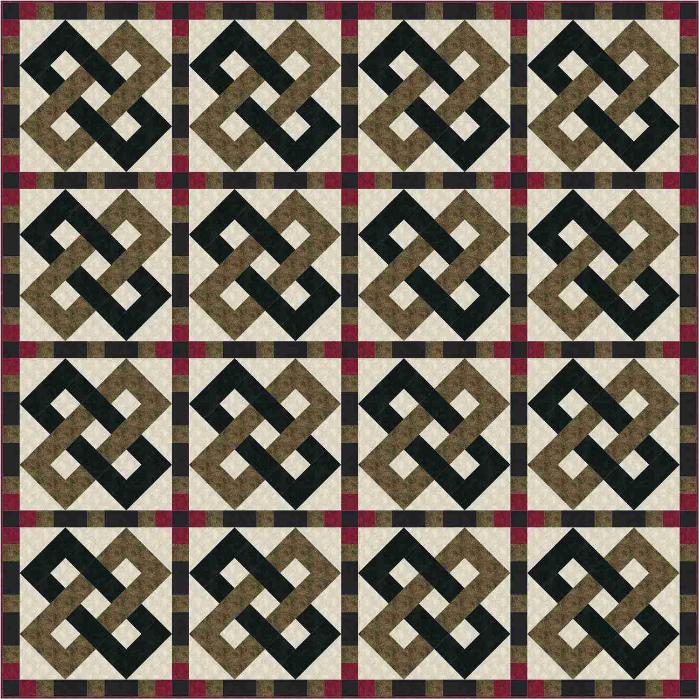 Interlocking Chains Quilt Pattern