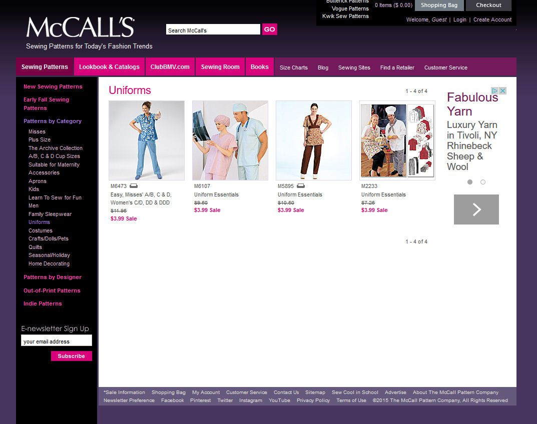 McCall's Scrubs Sewing Patterns