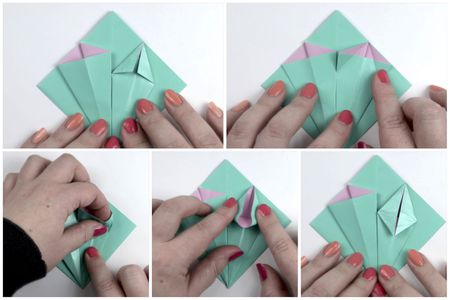Make an easy origami lily flower origami flower tutorial 05 mightylinksfo