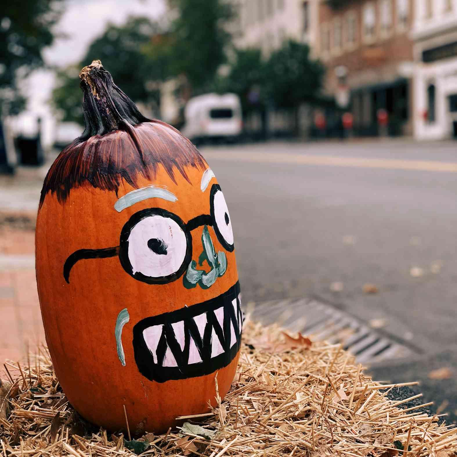 painted pumpkin face