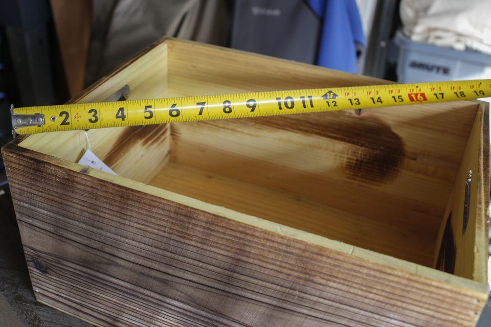 measure crate for diy wine rack