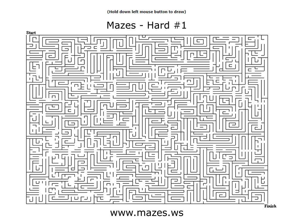 23 Free Online Mazes (Easy, Medium, and Hard)