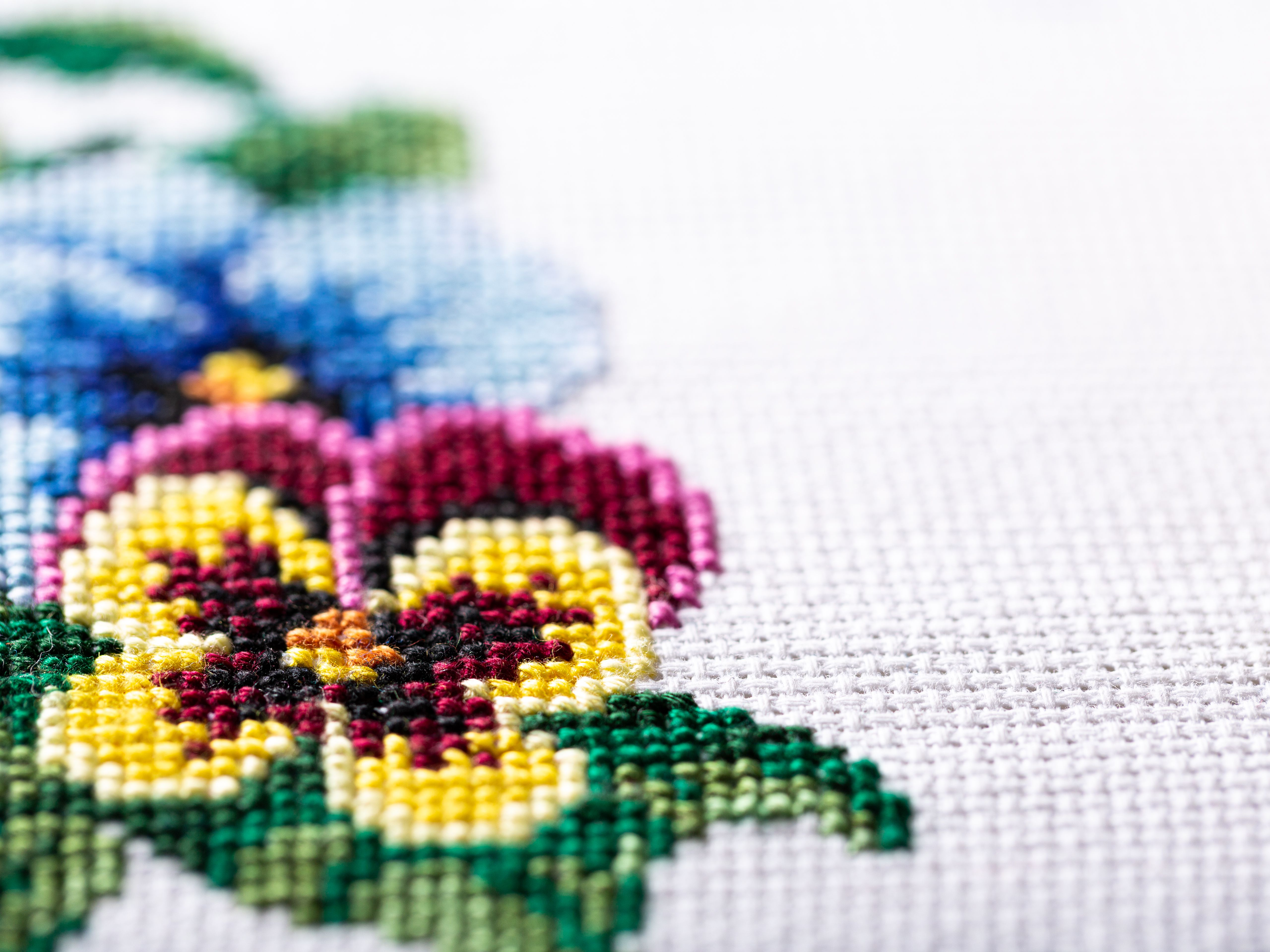 Hydrangeas Cross Stitch Pattern Colorful Art DIY X-stitch  Needlepoint Pattern Embroidery Chart Printable Instant Download PDF Design