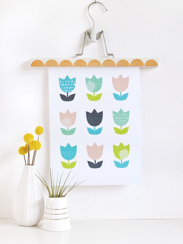 printable tulip wall art