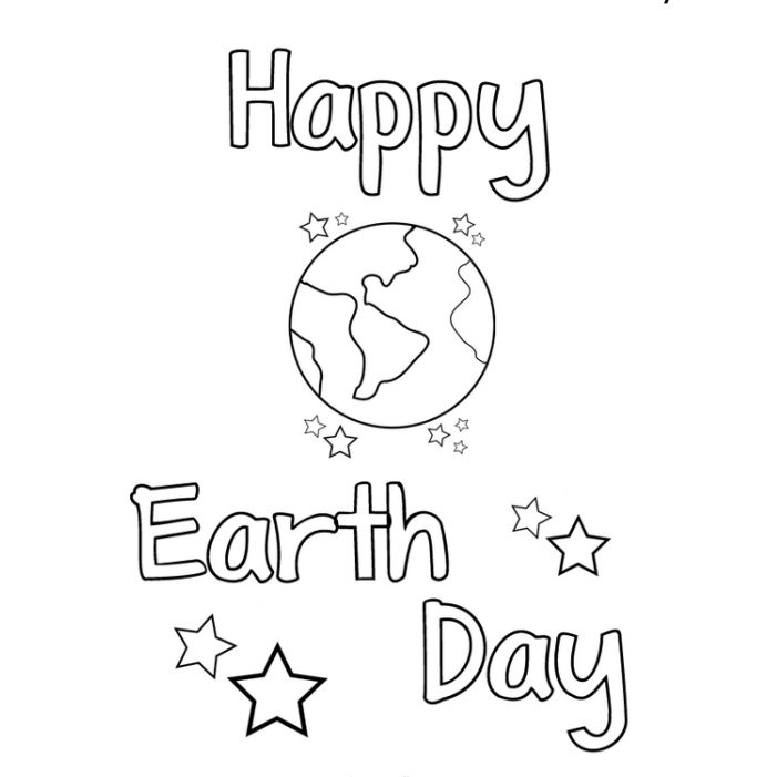 Earth Day Kids Crafts + Coloring Pages - Happiness is Homemade | 701x701