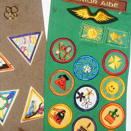 Placing and Sewing Girl Scout Badges