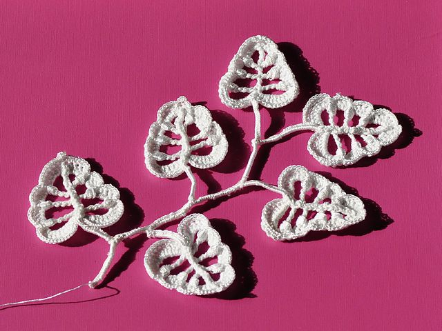 Irish leaves crochet
