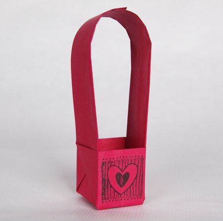 Make A Folded Paper Basket For A Gift Box Or Favor Box