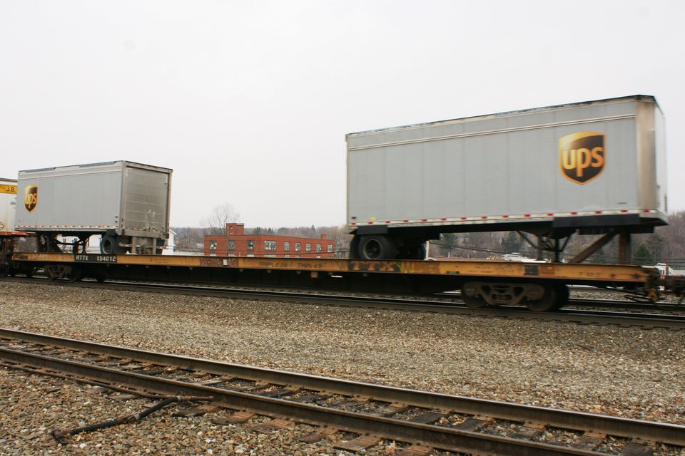 Prototype 89 ft flatcar