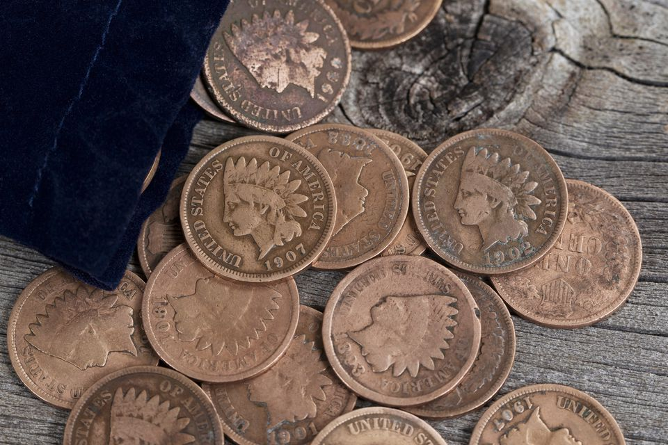 Various IIndian head pennies