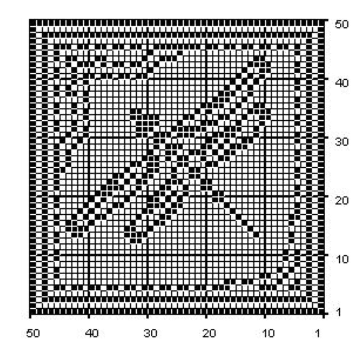 Dragonfly Filet Crochet Chart Free Pattern