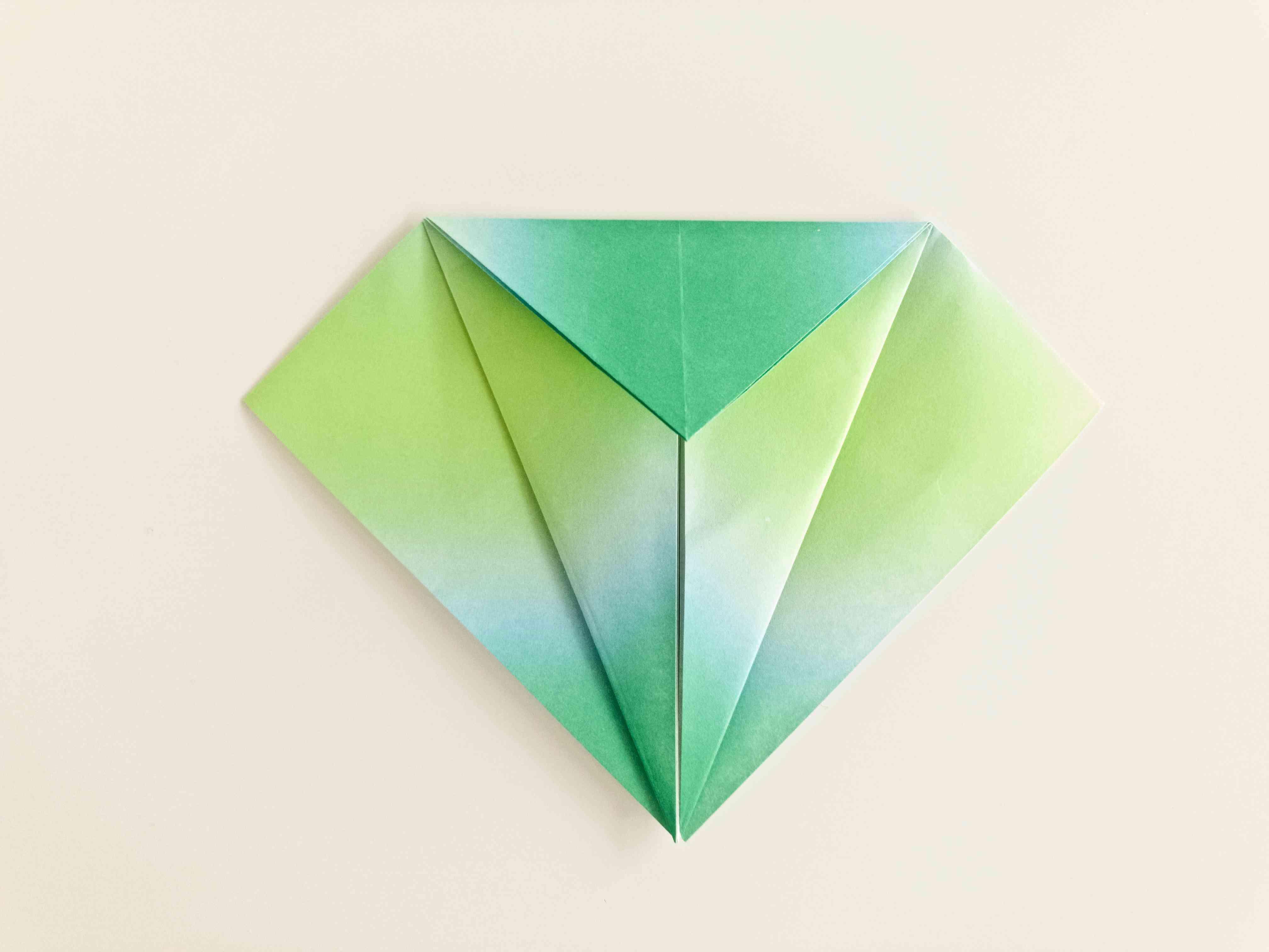 origami crane instructions - squash fold