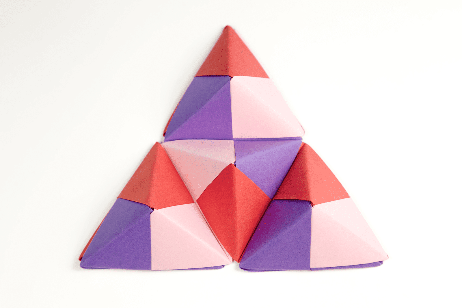 Origami Sonobe Wall Display Colorful