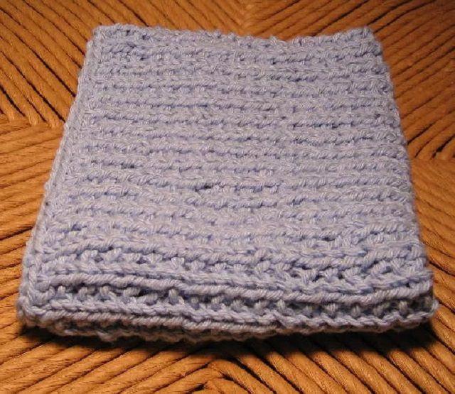 Knit dishrag