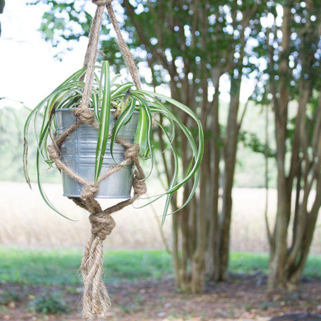 easy twine macrame plant hanger