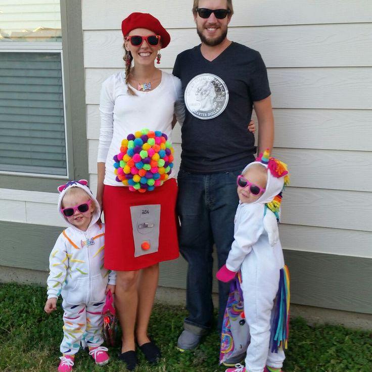 Lisa Frank-inspired family halloween costume idea