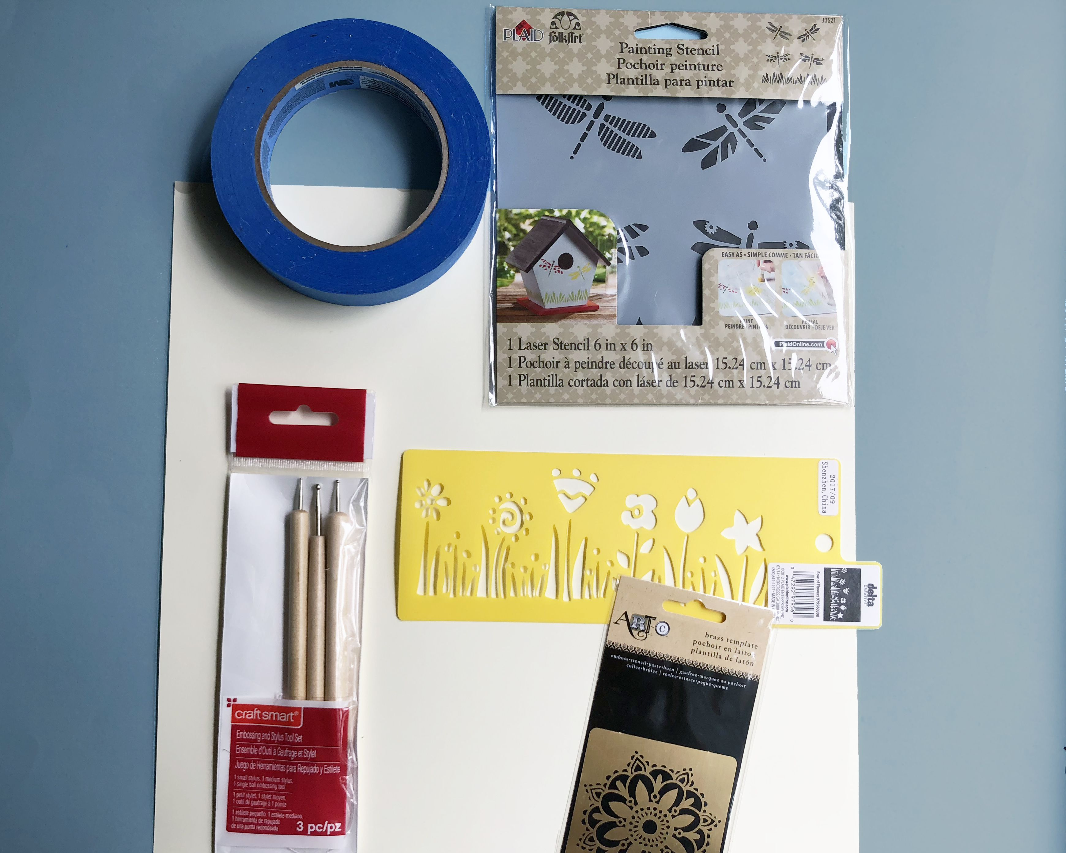 tools needed for dry embossing