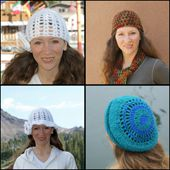 Crocheted Hats Designed by Amy Solovay.