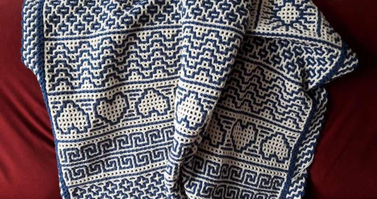 Interlocking Crochet Blanket Pattern