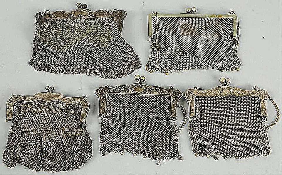 Five German Silver Purses